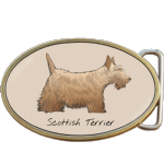 Scottish Terrier Dog Belt Buckle. Code A0070
